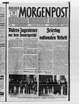 Berliner Morgenpost vom 13.04.1933