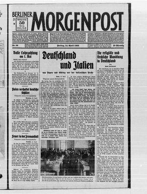 Berliner Morgenpost vom 14.04.1933