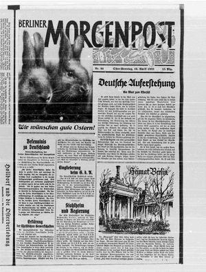 Berliner Morgenpost on Apr 16, 1933