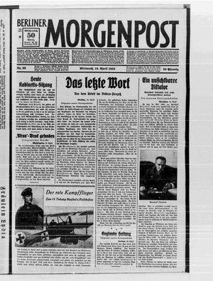 Berliner Morgenpost vom 19.04.1933