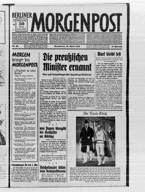 Berliner Morgenpost on Apr 22, 1933