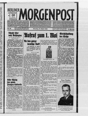 Berliner Morgenpost vom 25.04.1933