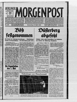 Berliner Morgenpost vom 27.04.1933