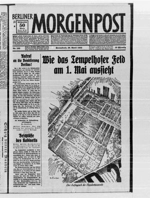 Berliner Morgenpost on Apr 29, 1933