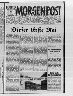 Berliner Morgenpost vom 30.04.1933