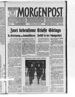 Berliner Morgenpost on May 10, 1933