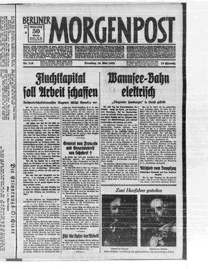 Berliner Morgenpost on May 16, 1933