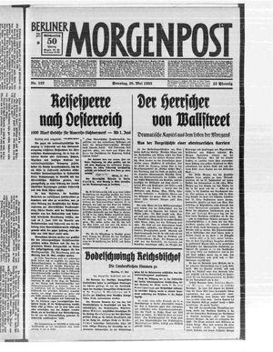 Berliner Morgenpost vom 28.05.1933