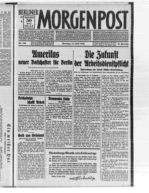 Berliner Morgenpost vom 11.06.1933