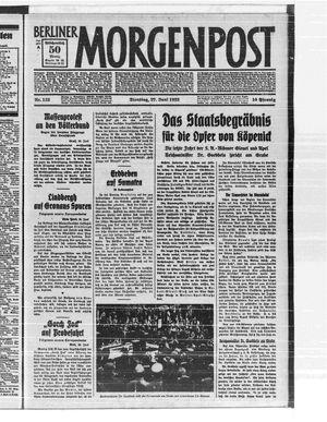 Berliner Morgenpost vom 27.06.1933