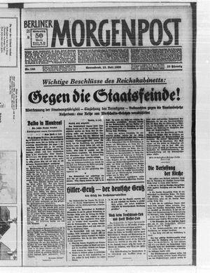 Berliner Morgenpost vom 15.07.1933