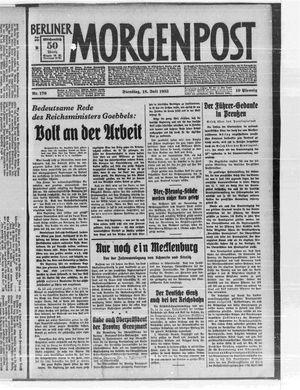Berliner Morgenpost vom 18.07.1933
