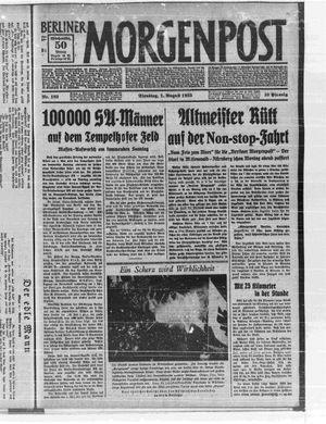 Berliner Morgenpost vom 01.08.1933