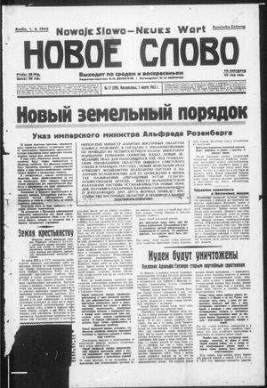 Novoe slovo vom 01.03.1942
