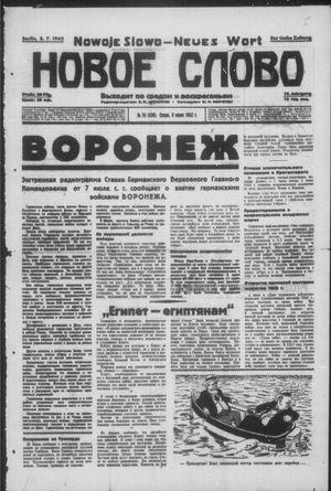 Novoe slovo vom 08.07.1942