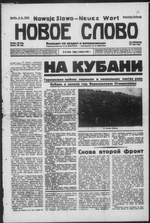 Novoe slovo vom 05.08.1942