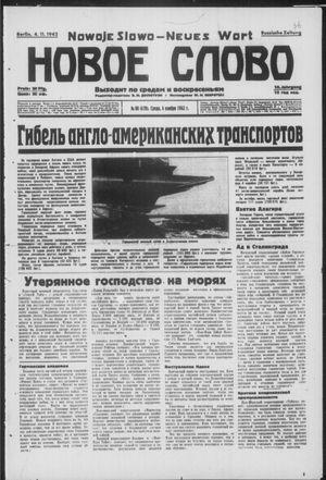 Novoe slovo vom 04.11.1942