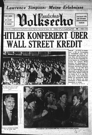 Deutsches Volksecho vom 20.02.1937
