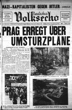 Deutsches Volksecho vom 27.02.1937