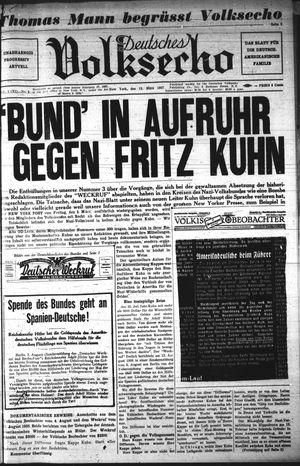 Deutsches Volksecho vom 13.03.1937