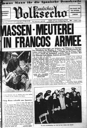 Deutsches Volksecho vom 03.04.1937