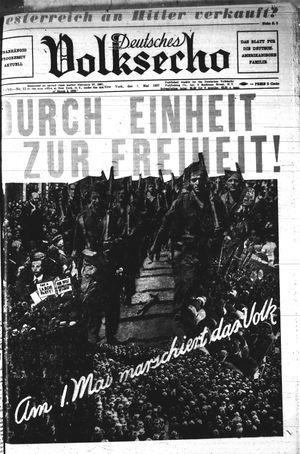 Deutsches Volksecho vom 01.05.1937