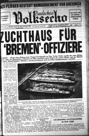 Deutsches Volksecho vom 22.05.1937