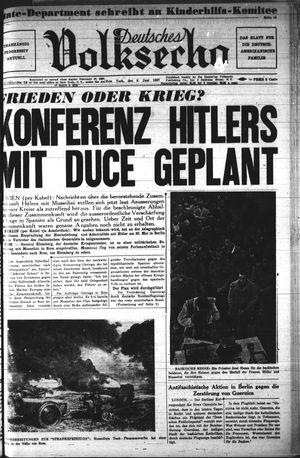 Deutsches Volksecho vom 05.06.1937