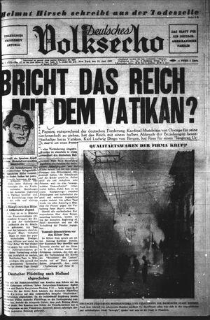 Deutsches Volksecho vom 12.06.1937