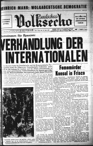 Deutsches Volksecho vom 19.06.1937