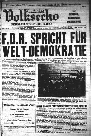 Deutsches Volksecho vom 08.01.1938