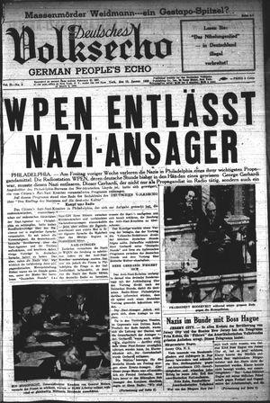 Deutsches Volksecho vom 15.01.1938