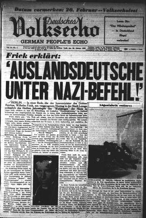Deutsches Volksecho vom 22.01.1938