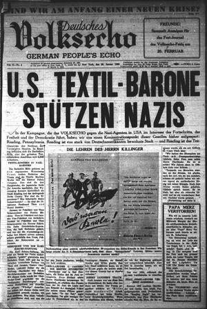 Deutsches Volksecho vom 29.01.1938