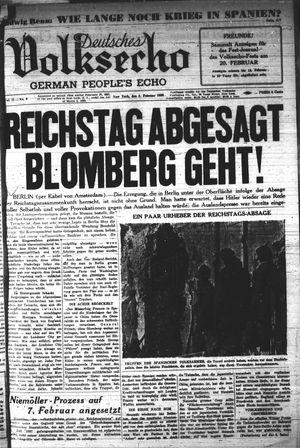 Deutsches Volksecho vom 05.02.1938