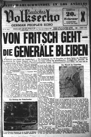 Deutsches Volksecho vom 12.02.1938