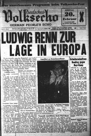 Deutsches Volksecho vom 19.02.1938