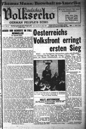 Deutsches Volksecho on Mar 12, 1938