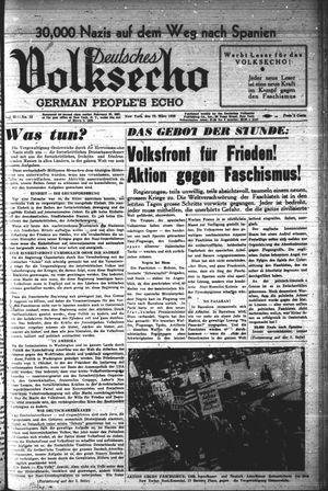 Deutsches Volksecho vom 19.03.1938