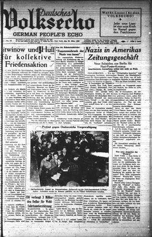 Deutsches Volksecho vom 26.03.1938
