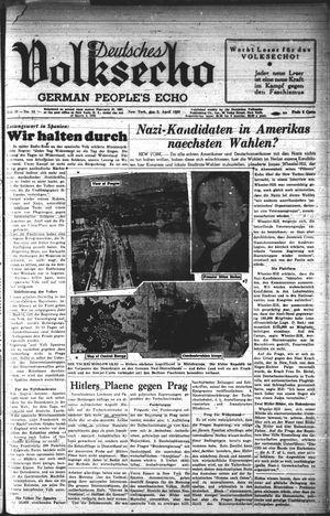 Deutsches Volksecho on Apr 2, 1938