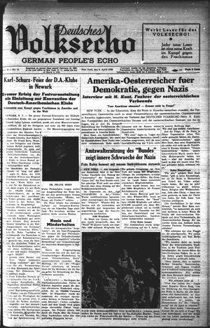 Deutsches Volksecho vom 09.04.1938