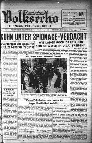 Deutsches Volksecho vom 23.04.1938