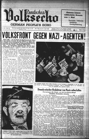 Deutsches Volksecho vom 30.04.1938