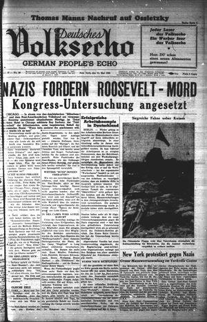 Deutsches Volksecho vom 14.05.1938