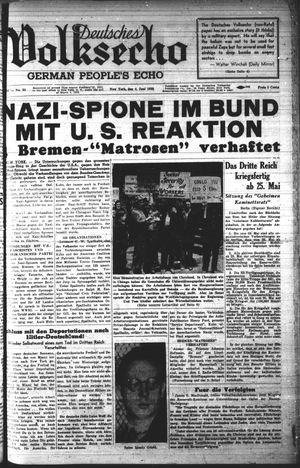 Deutsches Volksecho vom 04.06.1938