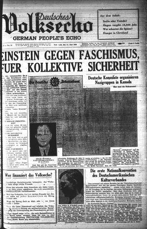Deutsches Volksecho vom 11.06.1938