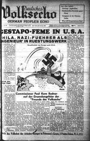 Deutsches Volksecho vom 18.06.1938