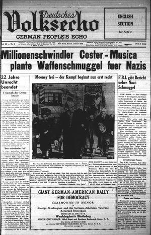 Deutsches Volksecho vom 14.01.1939