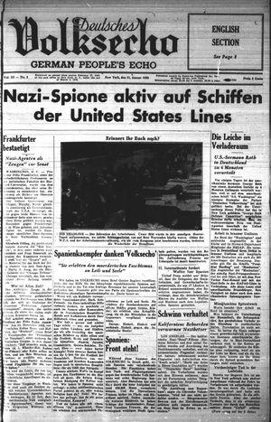 Deutsches Volksecho vom 21.01.1939